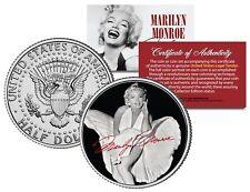 Marilyn Monroe WHITE DRESS FLYING SKIRT JFK Kenndy Half Dollar LICENSED US Coin