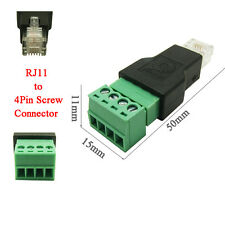RJ11 to Screw Terminal Adaptor RJ11 Male to 4 Pin connector RJ11 splitter
