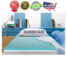 Queen Size 3 Inch Beautyrest Cooling Gel Memory Foam Topper Mattress Brand New