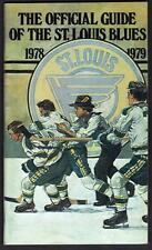 St. Louis Blues 1978-79 media guide