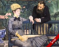 IN THE PARIS CONSERVATORY MANET OIL PAINTING ART REAL CANVAS GICLEE PRINT