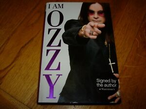 OZZY OSBOURNE-I AM OZZY-1ST-SIGNED-2009-F-HB-SPHERE-VERY RARE