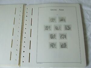 LIGHTHOUSE SWITZERLAND 1980-98 ILLUSTRATED & HINGELESS STAMP ALBUM PAGES