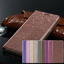 Luxury Magnetic Bling Glitter PU Leather Flip Case Wallet Cover For Samsung