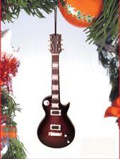 """Miniature 5"""" Dark Les Paul Electric Guitar Hanging Tree Ornament"""