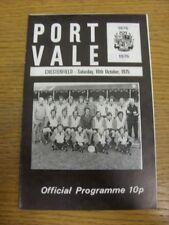 18/10/1975 PORT VALE V Chesterfield (Staples rimossi). grazie per la visualizzazione di questa