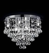 Plafoniera moderna da soffitto in cristallo diametro 40cm 9 luci G9