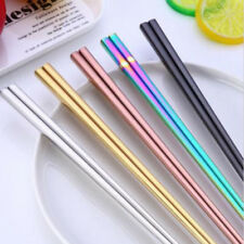 Stainless Steel Korean Colorful Chopsticks Rainbow China Food Chopstick set