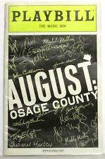August: Osage County Playbill Signed by E Ashley, J Cullum, E Parsons, B Kerwin