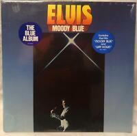 "ELVIS PRESLEY -""Moody Blue"" (RCA AFL1-2428) Blue Vinyl LP Record 1977 NEW"
