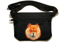 Chow Chow gift - Embroidered Dog treat pouch/bag - for dog shows & training.
