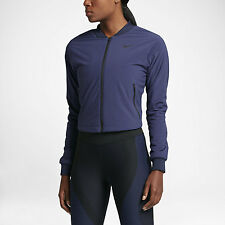 NEW Ladies NIKE AEORLAYER Obsidian work out / Running jacket. Size Med .