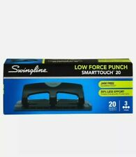 NEW Swingline SmartTouch Low Force 20 Sheet Maximum Capacity 3 Hole Paper Punch