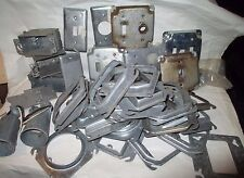 Electrical Supply 30pc. Lot - Steel Gang Boxes, Covers, Adapters, Switch Plates
