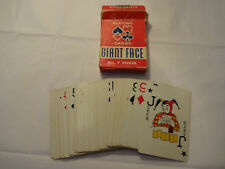 VINTAGE ARRCO NO. 7 GIANT FACE POKER PLAYING CARDS DECK 2 JOKERS