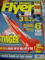 """RC MODEL FLYER JULY 2014 MOSKA 30"""" PLAN STINGER SPOOK 96 FE8 BAC 221"""