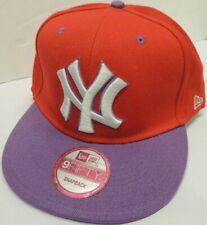 NEW YORK YANKEES Snapback 9FIFTY Flat Bill MLB Cap/Hat - Red/Purple - New Era