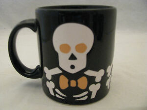 Halloween Skeletons on Black Mug 12oz Waechtersbach Germany New