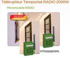 Télérupteur radio silencieux 10a Power avec antenne MTR2000ERPX Yokis 5454463
