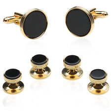 Onyx And Gold Wedding Set Direct from Cuff-Daddy
