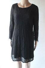 THURLEY black crochet shift dress sz 12