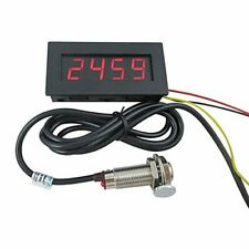 Digital LED Tachometer RPM Speed Meter w/ Hall Proximity Switch Sensor & Magnet
