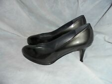 RUSSELL & BROMLEY BY SW GREY PATENT LEATHER HEEL SHOE SIZE UK 5.5 EU 38.5 US 8.5