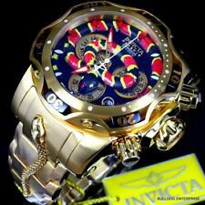 Invicta Rey Venom Cobra Suizo Mvt Cronógrafo 52mm Oro Chapado Acero Reloj Nuevo