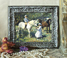 Munnings CHILDREN w Pony Horse Art Print Vintage Style Framed 11X13 py
