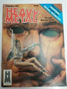 Heavy Metal Magazine November 1982 Moorcock Kaluta Wrightson Druillet  Yragael