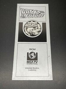 1991 Back to the Future MCA TV International 8x4 Pamphlet Fold-out Silver Univer