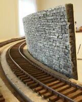 7180 FLEXIBLE Natural Stone Pattern Retaining Wall O or HO Scale