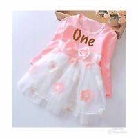 Girls First Birthday Dress Cake Smash Set Girls 1st Birthday Outfit Pink Dress
