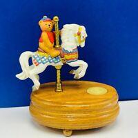 Carousel horse music box figurine statue Willitts teddy bear Favorite Things vtg