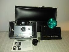 Vintage Polaroid Automatic 100 Land Camera w/Accessories & Case
