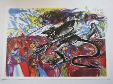 Olivier AGID (1951) - Lithographie originale signée + petit dessin