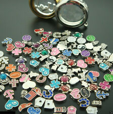 100PCS Lot Mix floating charm for glass living memory locket new