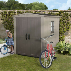 Keter Garden Shed 1.78m x 1.95m Factor 6x6 Resin Plastic Shed