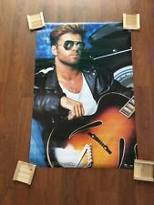 New ListingGeorge Michael w/ Guitar Vintage Poster Gr8 Condition. 1987 Wham Music Pos-01157