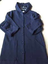 Navy Cotton/Poly Fleece Jacket Hoodie Sweatshirt - New Made in NC Size 4X