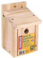 Stokes Select 38149 Wren & Chickadee Nesting Bird House, Natural Wood