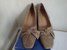 EEE Noir Faux Daim Bride Arrière Bout Ouvert Chaussures Taille UK 9 wide fit BNWT ~~ Evans