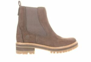 Timberland Womens Courmayeur Valley Brown Chelsea Boots Size 8.5 (1968750)