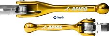 Apico Flexi Levers Brake & Clutch Yellow Suzuki RM85 RM125 RM250 05-18 Snap Back