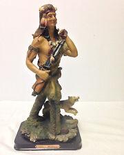 """De Elina - Native American Indian Hunter Figure Sculpture 13"""""""