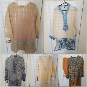 5 outfits mix variety! Pakistani Kameez Kurta, size small medium. For charity!