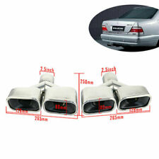 2.5'' Stamped AMG Double Wall Square Dual Exhaust Tips Fit 2.5inch Mercedes-Benz