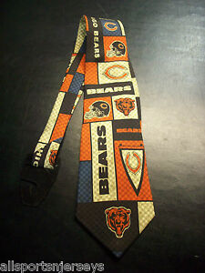 NFL Chicago Bears Men's Plaid Style Necktie by Eagles Wings