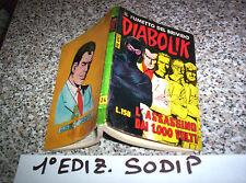 DIABOLIK PRIMA 1° SERIE ORIGINALE N.24 MB/OTT 1964 CON RARO DIFETTO EDITORIALE