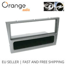 Vauxhall Opel Vivaro Radio Faceplate Single Din Fitting Fascia Car stereo silver